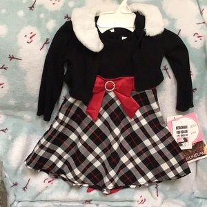 Youngland 2 Pc Holiday Dress sz 2T